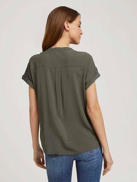 Kurzarm Hemdbluse mit Taschen - 2 - TOM TAILOR