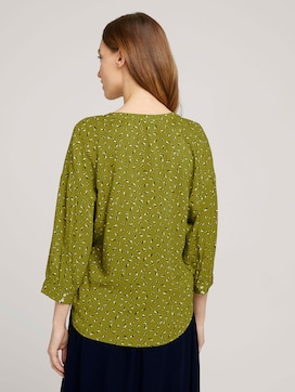 3/4-sleeved blouse with TENCEL(TM) - 2 - TOM TAILOR