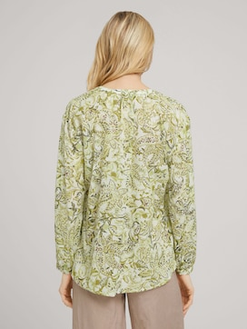 Patterned blouse with tie details - 2 - TOM TAILOR