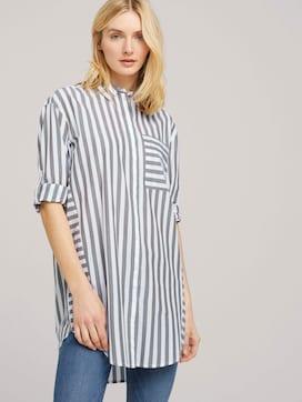 Lange Hemdbluse mit Streifen - 5 - TOM TAILOR