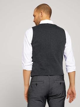 Vest in melange look - 2 - TOM TAILOR