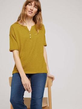 Henley T-Shirt mit Bio-Baumwolle - 5 - TOM TAILOR