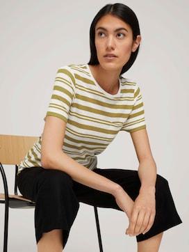 T-shirt met borstzak - 5 - TOM TAILOR