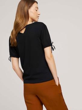 Gemustertes T-Shirt mit Ärmeldetail - 5 - TOM TAILOR