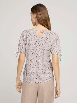 Gemustertes T-Shirt mit Ärmeldetail - 2 - TOM TAILOR