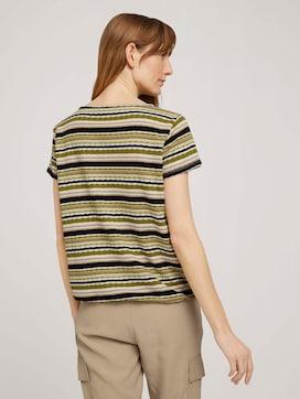 T-Shirt mit Streifenstruktur - 2 - TOM TAILOR