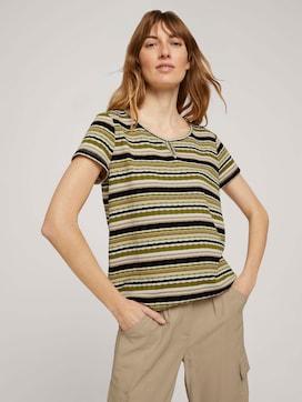 T-Shirt mit Streifenstruktur - 5 - TOM TAILOR