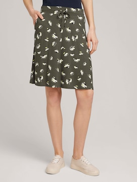 Jersey skirt with pockets - 1 - TOM TAILOR