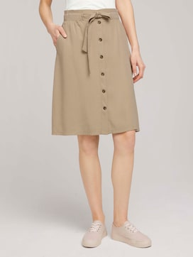Flared skirt with a button tab - 1 - TOM TAILOR