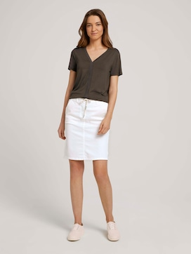 Skirt with a drawstring on the waist - 3 - TOM TAILOR