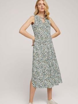 Sleeveless midi dress with a print - 5 - TOM TAILOR