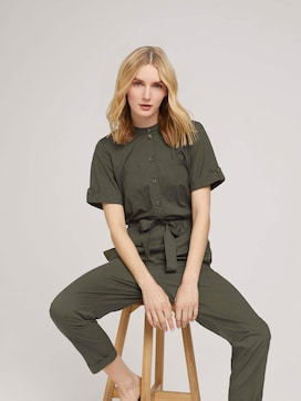 Utility jumpsuit with a belt - 5 - TOM TAILOR