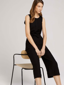 Casual jumpsuit with linen - 5 - TOM TAILOR