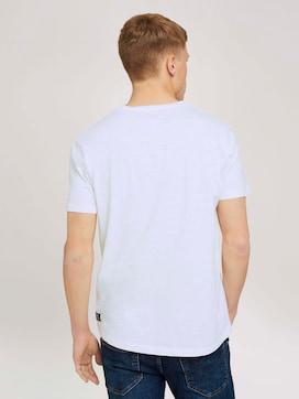 Meliertes T-Shirt mit Brusttasche - 2 - TOM TAILOR Denim