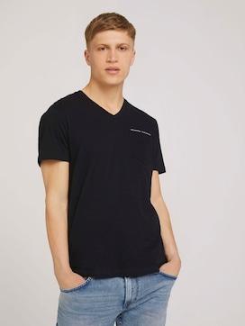 Meliertes T-Shirt mit Brusttasche - 5 - TOM TAILOR Denim