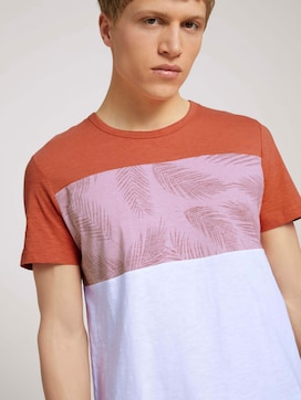 T-shirt in een mix van patronen - 5 - TOM TAILOR Denim