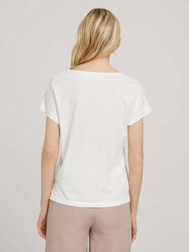 Loose Fit T-Shirt mit Faltenlegung - 2 - TOM TAILOR
