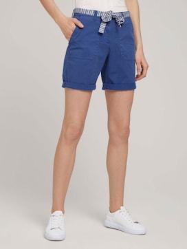 Chino Bermuda Shorts mit Gürtel - 1 - TOM TAILOR