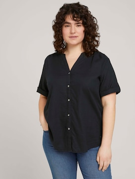 henley blouse with turn-up sleeves - 5 - My True Me