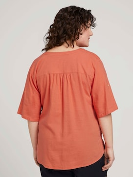 henley blouse with turn-up sleeves - 2 - My True Me