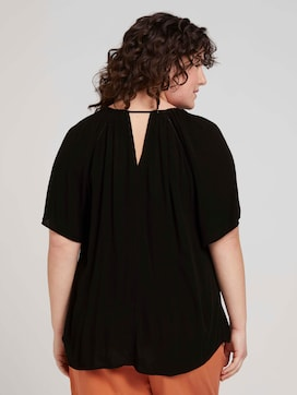 patterned Lenzing(TM) EcoVero(TM) blouse - 2 - My True Me