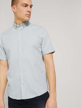 Textured short-sleeved shirt - 5 - TOM TAILOR