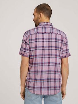 checkered short-sleeved shirt - 2 - TOM TAILOR