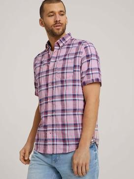 checkered short-sleeved shirt - 5 - TOM TAILOR