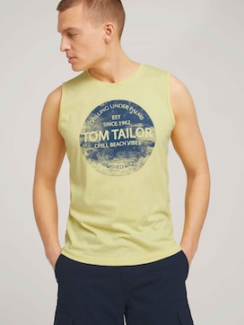 Tank top with a logo print - 5 - TOM TAILOR