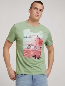 T-shirt with a print with organic cotton - 5 - TOM TAILOR