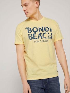 T-shirt met print van biologisch katoen - 5 - TOM TAILOR