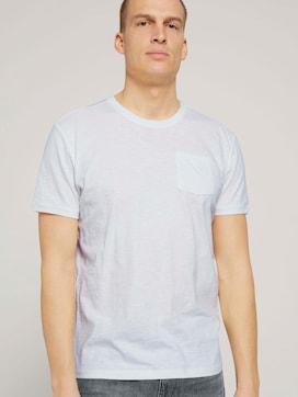 T-shirt met geribbelde details - 5 - TOM TAILOR