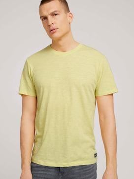 T-Shirt in Melange-Optik - 5 - TOM TAILOR