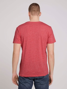 T-Shirt in Melange-Optik - 2 - TOM TAILOR