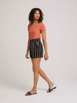 Patterned relaxed shorts - 3 - TOM TAILOR Denim