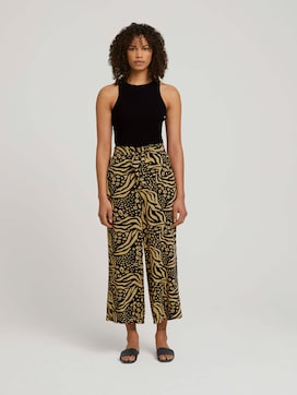 Patterned culotte trousers - 3 - TOM TAILOR Denim