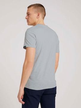 Henley T-Shirt in Melange Optik - 2 - TOM TAILOR