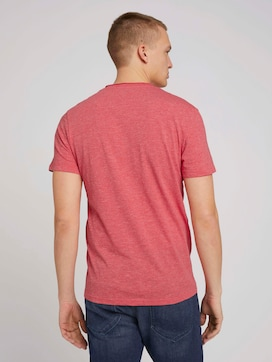 Henley T-Shirt in Melange Optik - 2 - TOM TAILOR