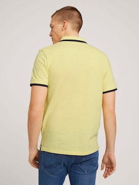 Meliertes Poloshirt mit Stickerei - 2 - TOM TAILOR