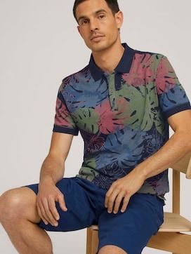 Poloshirt met bloemmotief en biologische katoen - 5 - TOM TAILOR
