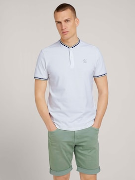 Polo shirt with a stripe made of organic cotton - 5 - TOM TAILOR