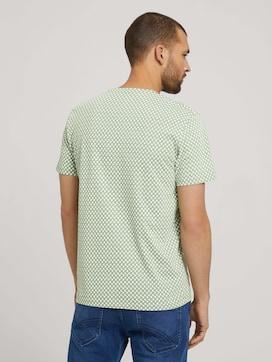 gemustertes T-Shirt mit Bio-Baumwolle - 2 - TOM TAILOR