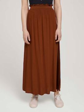 Maxi skirt with a slit - 1 - TOM TAILOR Denim