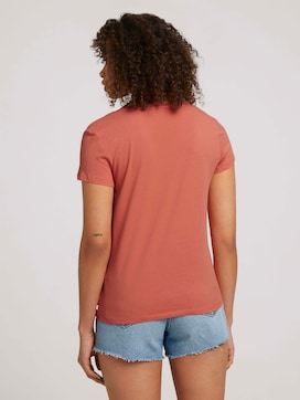 Embroidered T-shirt with organic cotton - 2 - TOM TAILOR Denim