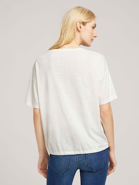 Modal t-shirt with a drawstring - 2 - TOM TAILOR