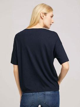 Modal T-Shirt mit Tunnelzug - 2 - TOM TAILOR