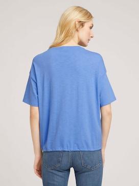 Modal T-shirt met trekkoord - 2 - TOM TAILOR