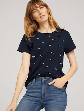 Besticktes T-Shirt mit Bio-Baumwolle - 5 - TOM TAILOR