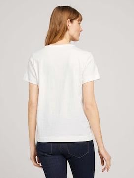Besticktes T-Shirt mit Bio-Baumwolle - 2 - TOM TAILOR