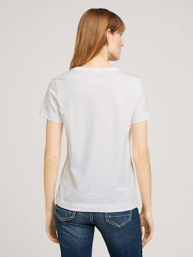 Embroidered t-shirt with organic cotton - 2 - TOM TAILOR